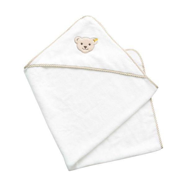 Badehandtuch mit Kapuze weiß