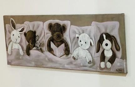 Bild Bärenfamilie rosa