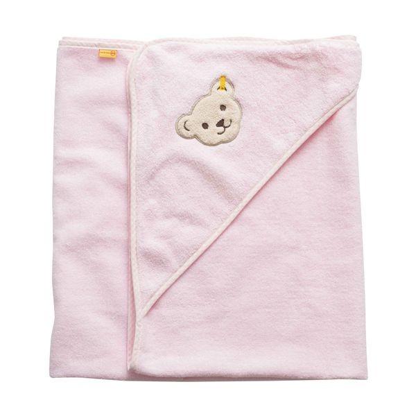 Badehandtuch mit Kapuze rosa