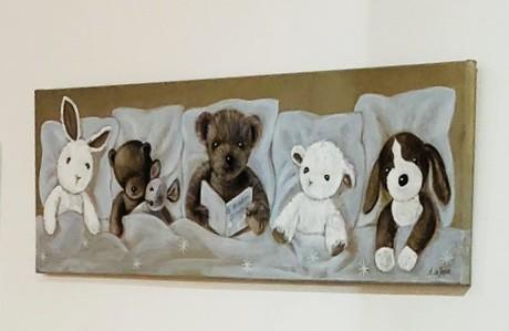 Bild Bärenfamilie blau