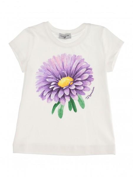 T-Shirt creme Blume