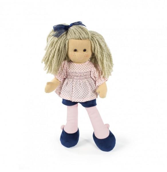 Puppe Punkte rosa-blau