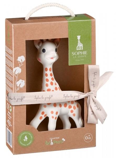 Giraffe Sophie mit Geschenkverpackung