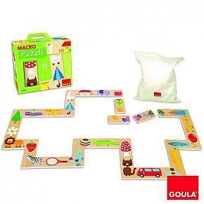 Riesen-Puzzle-Domino mit Beutel
